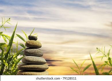 Zen Stones Tower with background