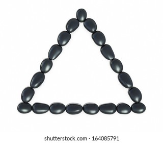 Zen stones triangle form (isolated on white and clipping path)