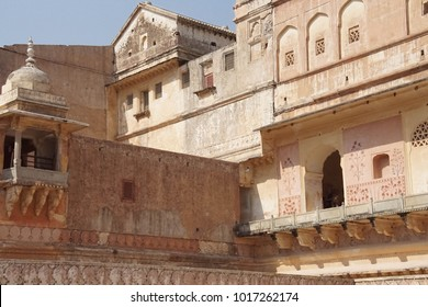 Zenana Queen's quarters in the  Amber Fort near  Jaipur, Rajasthan, India