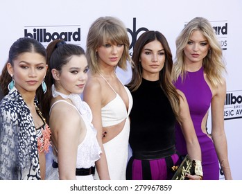 Zendaya Coleman, Hailee Steinfeld, Taylor Swift, Lily Aldridge and Marsha Hunt at the 2015 Billboard Music Awards held at the MGM Garden Arena in Las Vegas, USA on May 17, 2015.