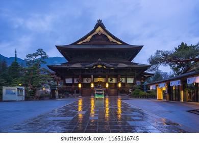 Zenkoji buddhist temple in Nagano, Japan.