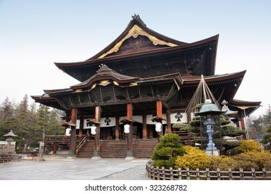 Zenkoji Temple, Nagano, JAPAN. One of the most important temples in Japan which was built in the 7th century