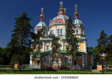 Zenkov's Cathedral in Almaty Center