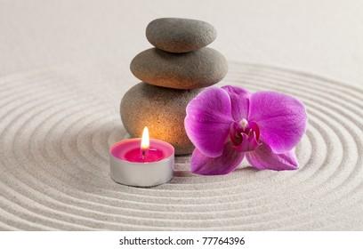 Zen-like stack of stone