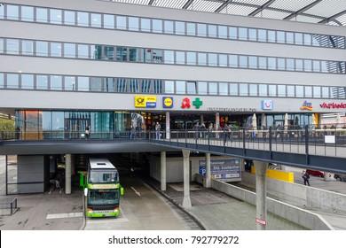 Zentraler Omnibusbahnhof, ZOB, Central Bus Station, Munich, Upper Bavaria, Bavaria, Germany, Europe, 07. November 2014