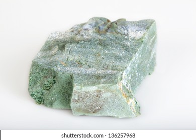 Zeolite stone against a white background