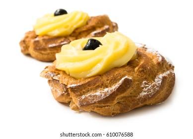 Zeppole di San Giuseppe - Saint Joseph's Fritters, traditional Italian dessert