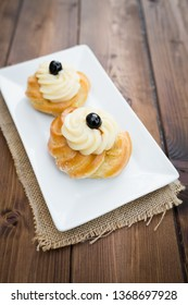 Zeppole pastries from Puglia