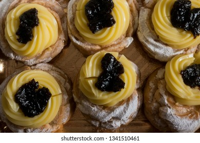Zeppole Traditional Italian Pastry  Side View