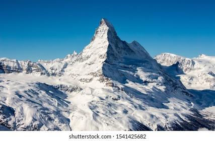 Zermatt Matterhorn view mountain winter landscape Swiss ales