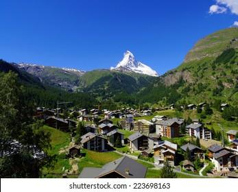 Zermatt Switzerland, green car-free city