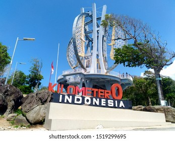 The zero kilometer point is also popularly known as the zero kilometer monument, Aceh/Indonesia, 09/08/2018