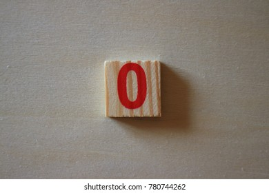 zero number wood block