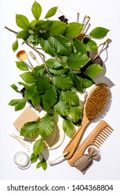 Zero waste, eco friendly cosmetic products and bathroom accessories