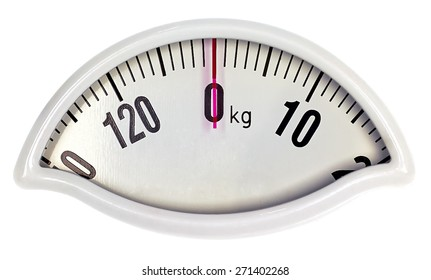 Zero weight scale in kg with clipping path