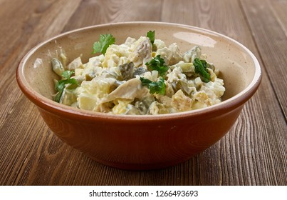 Zesty Chicken Salad Spread or appetizers or sandwiches using canned chicken, cream cheese, and ranch dressing.