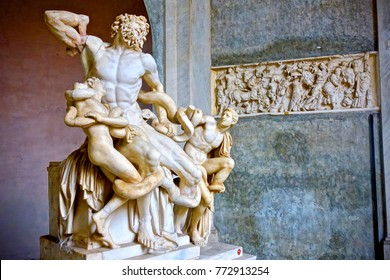 Zeus sculpture front view. The Vatican museum, Rome, Italy