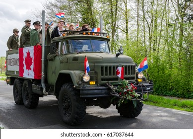 ZEVENHUIZEN, NETHERLANDS - MAY 05, 2015: Liberation day (freedon day) celebration.  It is celebrated each year on May the 5th to mark the end of the occupation by Nazi Germany during World War II.