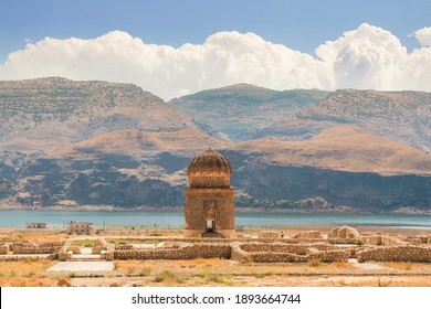 Zeynel Bey tomb (Zeynel Bey Turbesi) in its new place, where it was moved recently, so that it would not be under the dam, Hasankeyf, Batman, Turkey