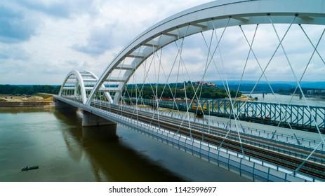 Zezelj's bridge in Novi Sad Serbia