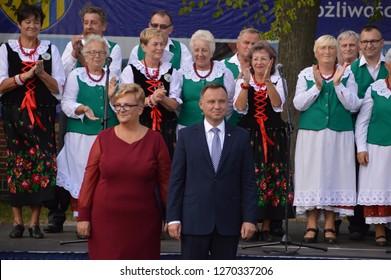 ZGORZELEC, POLAND - september 09, 2018: President of Poland Andrzej Duda visit the city