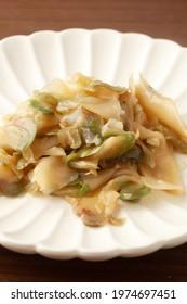 zha cai,pickled mustard plant stem