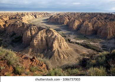 Zhabyr Canyon (Yellow canyon) in National park Charyn,  Kazakhstan
