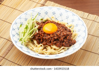 zhajiangmian (Chinese dish of ground pork over wheat noodles)