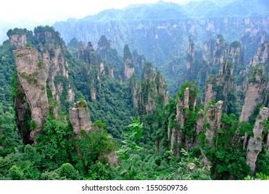 zhangjiajie limestone mountain of China