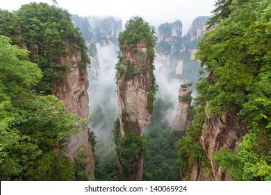Zhangjiajie national park in China Hunan province - Avatar Mountains