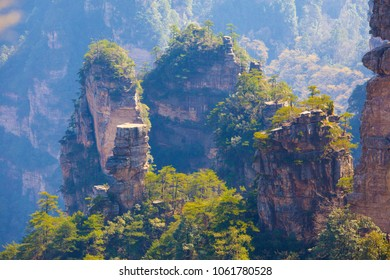 Zhangjiajie scenery. Taken on the Huangshizhai scenic area of Zhangjiajie National Forest Park. They are located in the western part of Hunan Province, China.