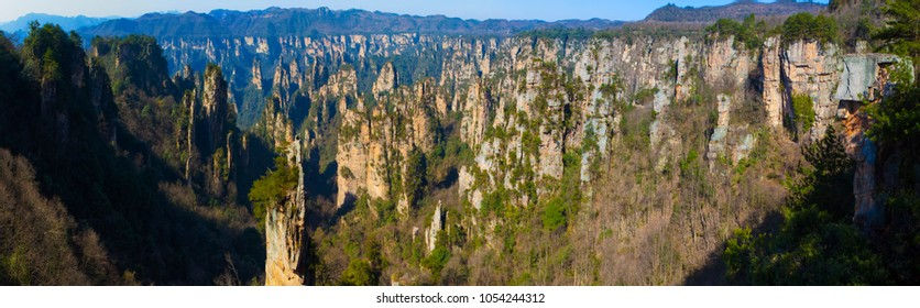 Zhangjiajie scenery. Taken on the Tianzishan scenic area of Zhangjiajie National Forest Park. They are located in the western part of Hunan Province, China.