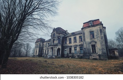 Zheludok - abandoned palace in Belarus, built in the early twentieth century, example of Art Nouveau style