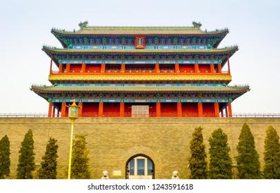 Zhengyang Gate seen from Qianmen street, Beijing, China