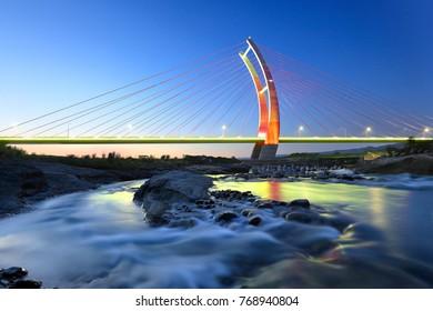 Zhongzheng bridge in Hsinchu, Taiwan