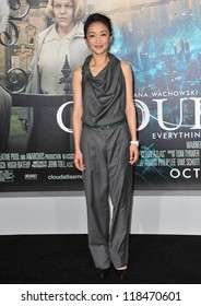 """Zhou Xun at the Los Angeles premiere of her new movie """"Cloud Atlas"""" at Grauman's Chinese Theatre, Hollywood. October 24, 2012  Los Angeles, CA"""