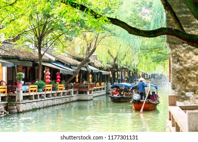 Zhouzhuang - China - 25 June ,2018:The ancient town of Zhouzhuang is a famous historical and cultural town in China. It is located in Jiangsu Province, China.