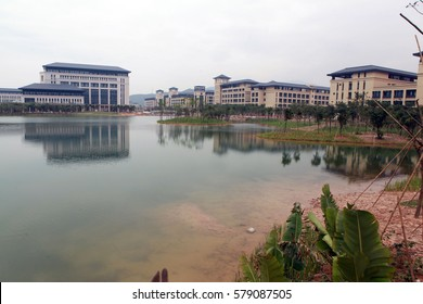 ZHUHAI CHINA-May 4, 2013, Guangdong,the completion of the Macao Hengqin campus of the university campus landscape. Hengqin campus of the University of Macao by the Macao SAR government management.
