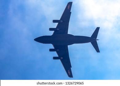 Zhuhai, GuangDong, China - November 07, 2018:  Y-20 at Airshow China 2018