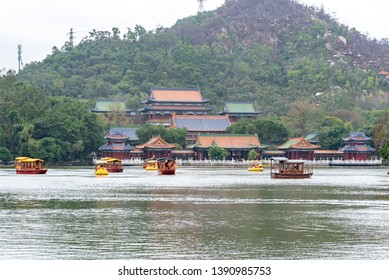 Zhuhai, Guangdong/China-2019/02/10: Yuanming New Garden,rebuilt of famous imperial park