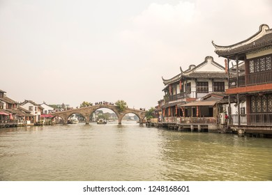 Zhujiajiao is a well-known ancient water town with a history of more than 1700 years and featured with unique old bridges, small rivers and houses.