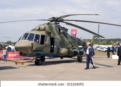 ZHUKOVSKY, MOSCOW REGION, RUSSIA - AUGUST 26, 2015: Helicopter shown at International Aerospace Salon MAKS-2015 in Zhukovsky, Moscow region, Russia.