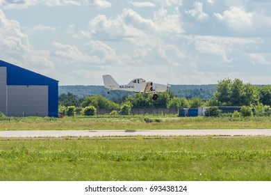 ZHUKOVSKY, MOSCOW REGION, RUSSIA - JULY 23, 2017: Expositions of International Aerospace Salon MAKS-2017 in Zhukovsky, Moscow region, Russia. Agroplane MV-500