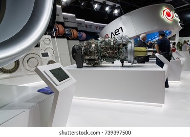 Zhukovsky, Russia - July 22. 2017. United Engine Corporationat on a Moscow International Air Show