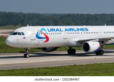 ZHUKOVSKY, RUSSIA - SEPTEMBER 01, 2019: An Airbus A321 of Ural Airlines at the Zhukovsky International Airport in Moscow, Russia. Ural Airlines became part of Aeroflot.