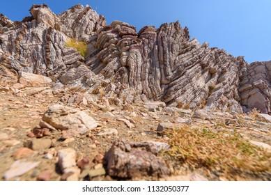 Zick Zack Rocks near Agios Pavlos in Crete