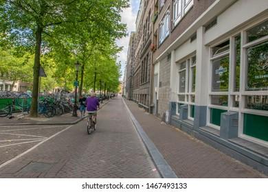 Zieseniskade Street At Amsterdam The Netherlands 2019