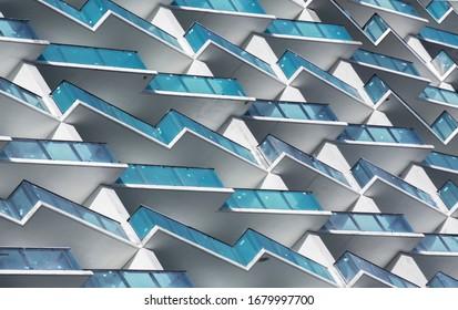 zig zag facade modern in Miami