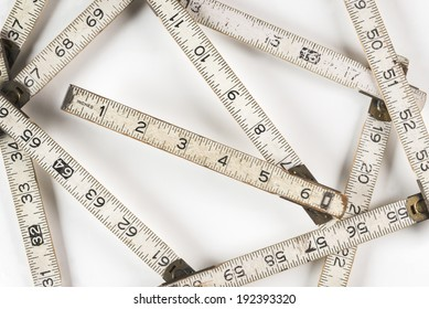 Zigzag Measure Ruler Vintage folding ruler made of wood before plastic was invented.