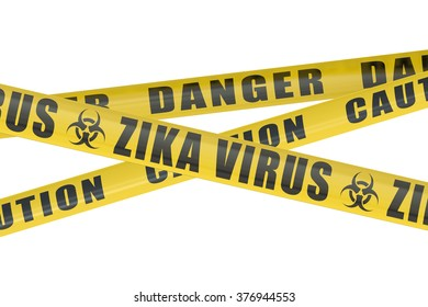 Zika virus concept isolated on white background